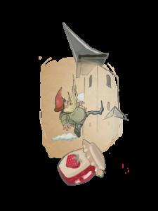 Krasnoludek i upadająca wieża