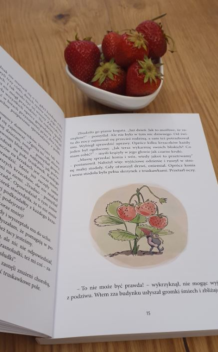 Truskawki są idealne na czas lektury ksiązki o krasnoludkach